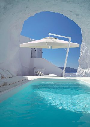 Santorini Umbrella