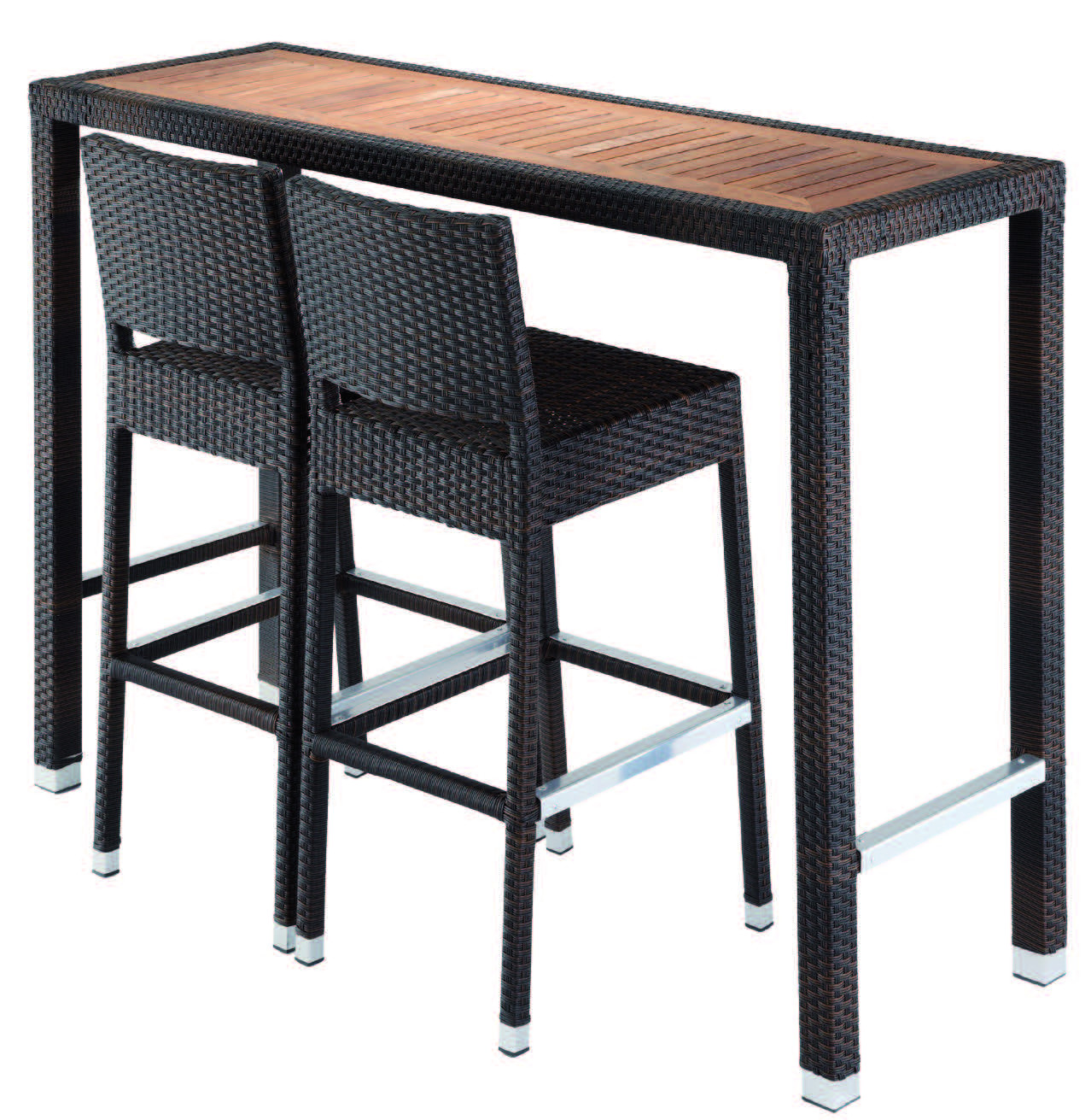 Drigani Poseur Table Two High Stools Outdoor Furniture Set