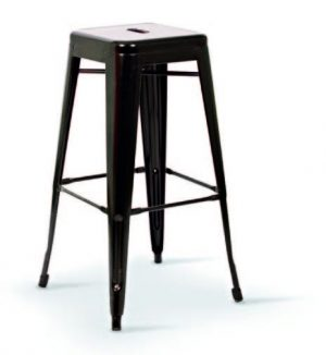 Vintage Metal Outdoor Stool