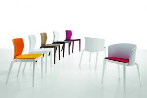 Infiniti Bi Full-back Chair with Upholstered Seat