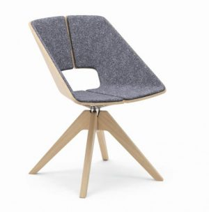 Infiniti Hug Swivel Chair with Wooden Base