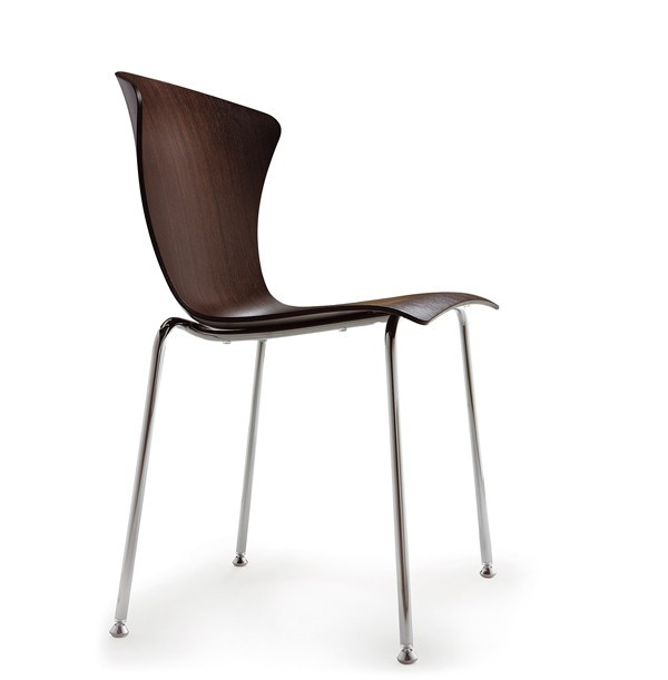 Infiniti Glossy 3D Wood Chair Pack of 2