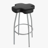 Gaber Cross Leather Stool
